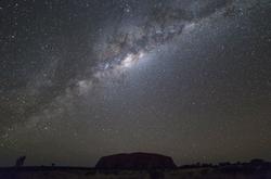 Outback Australia Uluru Milkway Print
